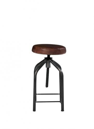 tabouret de bar r glable loft mobilier. Black Bedroom Furniture Sets. Home Design Ideas