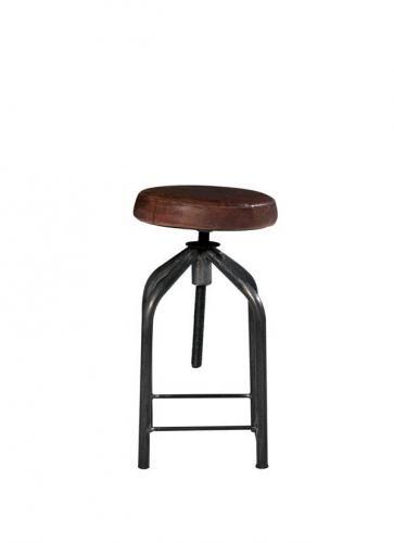 tabouret de bar r glable loft. Black Bedroom Furniture Sets. Home Design Ideas