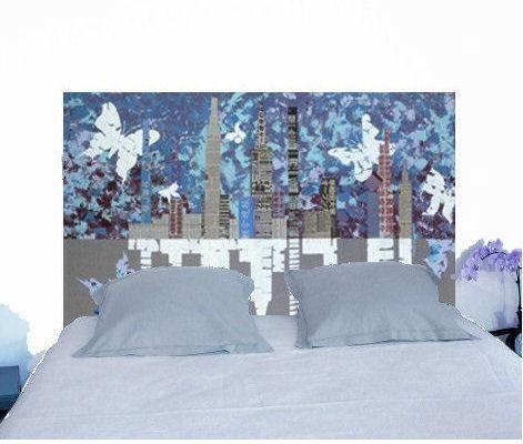 t te de lit altuglas manhattan les papillons mobilier. Black Bedroom Furniture Sets. Home Design Ideas