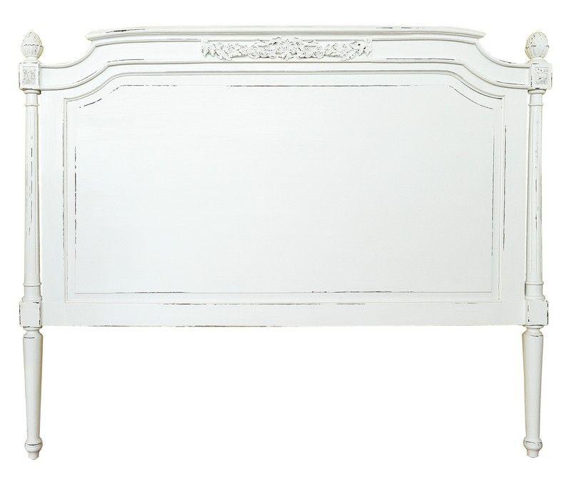 t te de lit acajou walter blanc rustique 90x120. Black Bedroom Furniture Sets. Home Design Ideas
