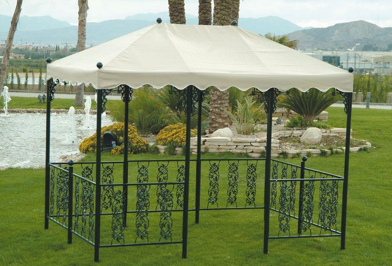tonnelle toile dralon fer forg andujar 200x300 cm. Black Bedroom Furniture Sets. Home Design Ideas