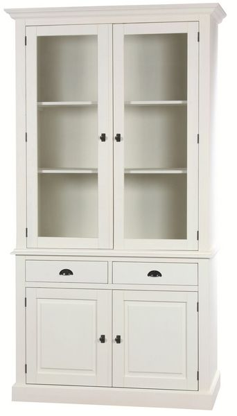 vaisselier pin monica blanc 2 portes mobilier. Black Bedroom Furniture Sets. Home Design Ideas