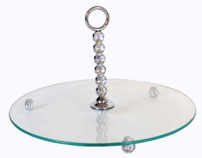 plateau fromage verre rond c leste art de la table. Black Bedroom Furniture Sets. Home Design Ideas