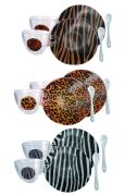 Tasses à café et soucoupes verre Jungle set de 6 - Aulica
