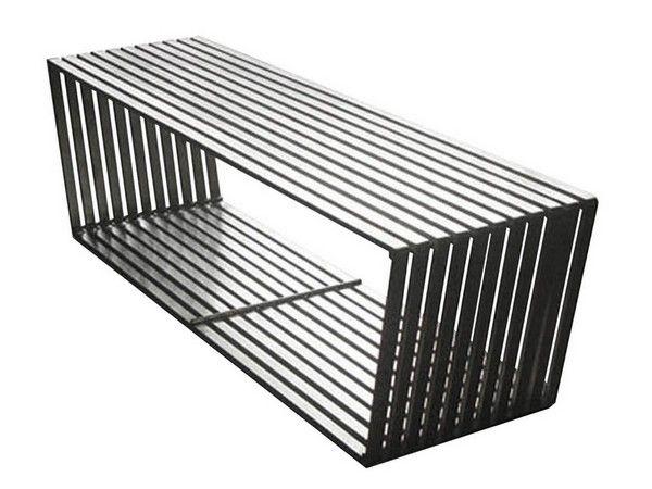 banc design inox mobilier. Black Bedroom Furniture Sets. Home Design Ideas