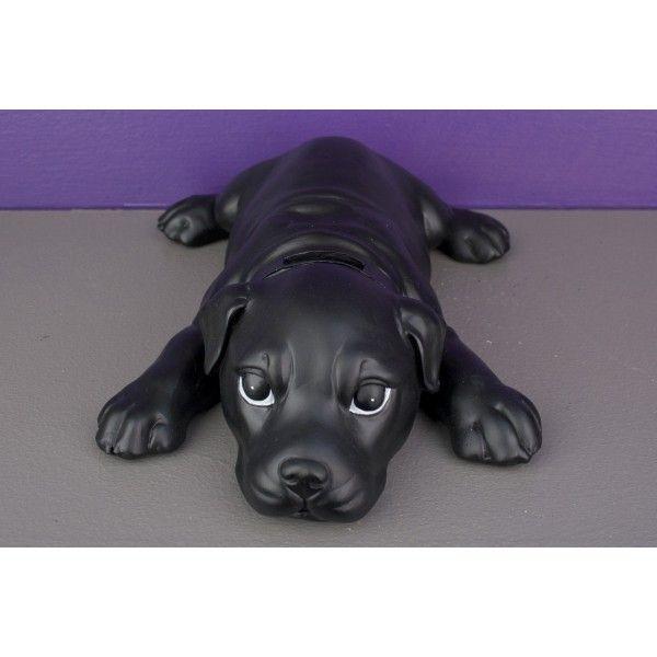 Bibelot tirelire statuette chien couch noir so skin for Bibelot de decoration