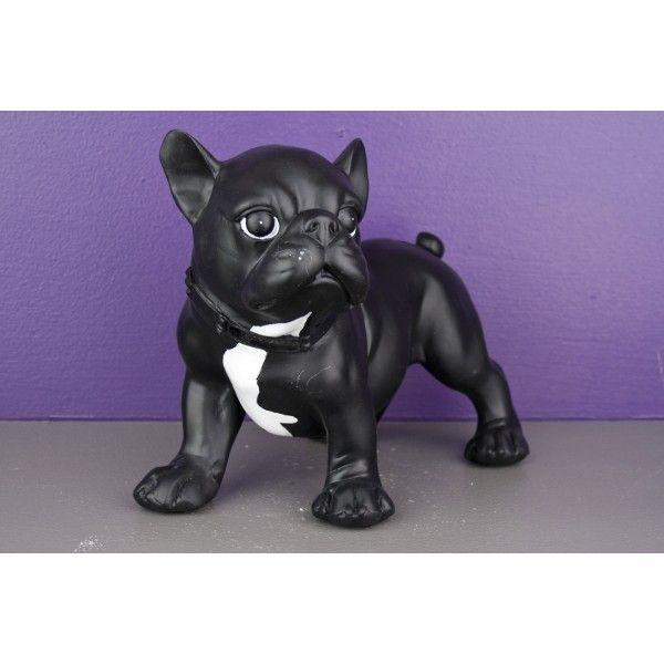 Bibelot tirelire statuette chien noir so skin for Bibelot de decoration