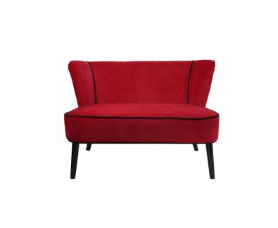 canap 2 places effet velours rouge mobilier. Black Bedroom Furniture Sets. Home Design Ideas