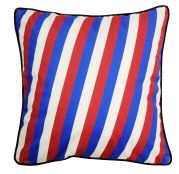 Coussin carré motifs rayures tricolores - So Skin