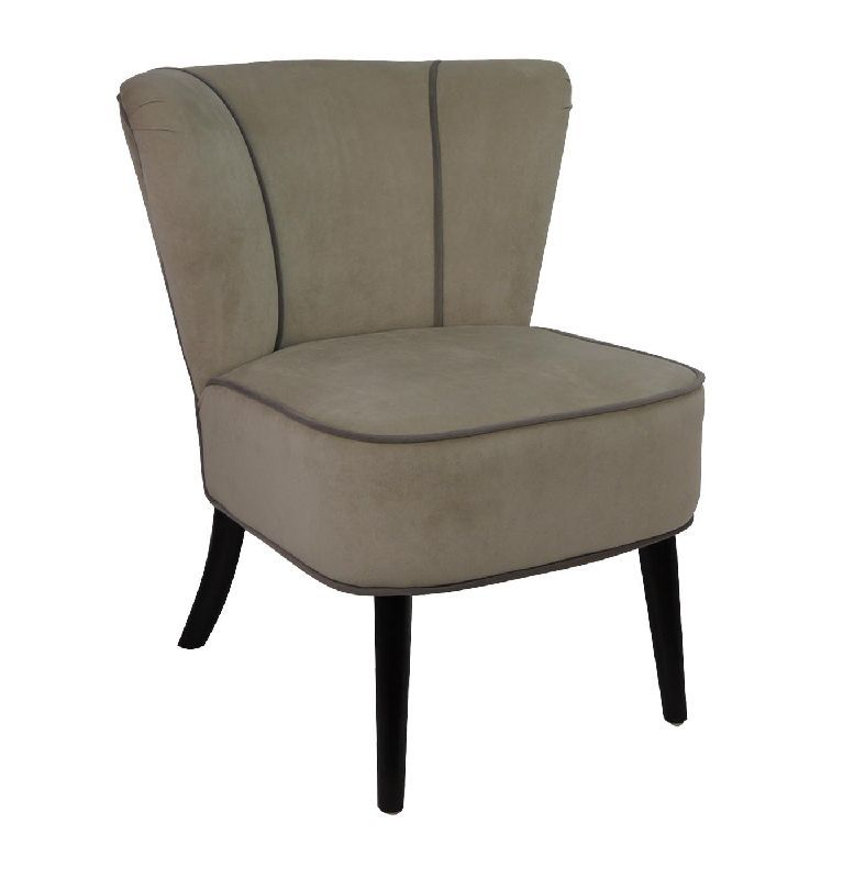 Fauteuil crapaud Beige aspect velours - So Skin