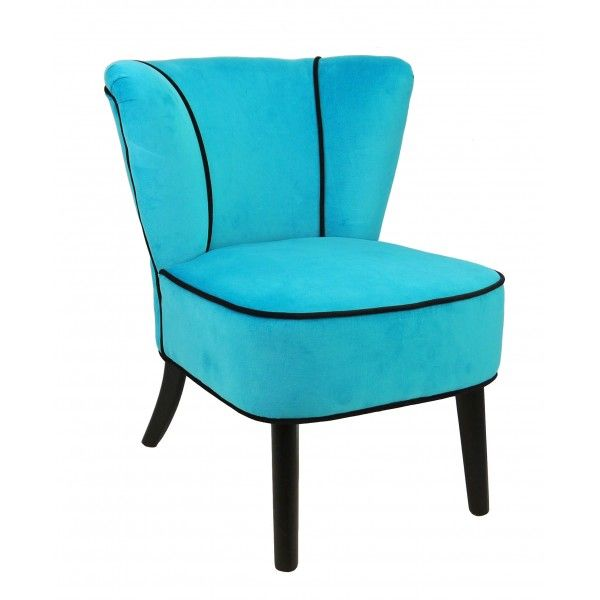 fauteuil crapaud bleu turquoise aspect velours so skin. Black Bedroom Furniture Sets. Home Design Ideas