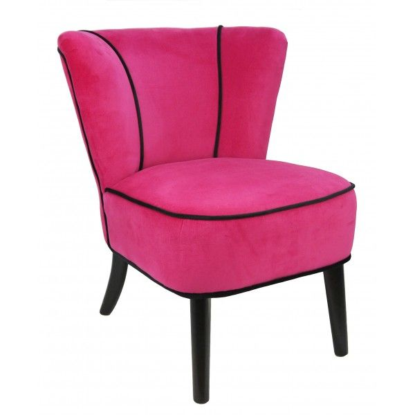 fauteuil crapaud fushia aspect velours mobilier. Black Bedroom Furniture Sets. Home Design Ideas