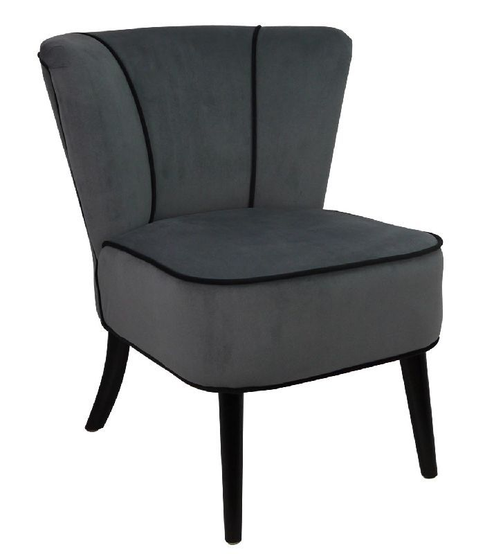 fauteuil crapaud gris souris aspect velours mobilier. Black Bedroom Furniture Sets. Home Design Ideas