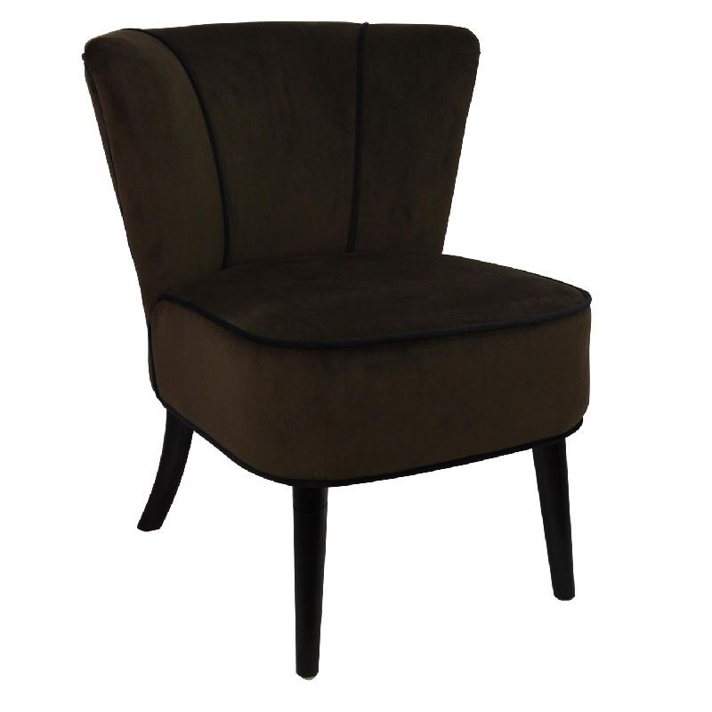 fauteuil crapaud marron aspect velours mobilier. Black Bedroom Furniture Sets. Home Design Ideas