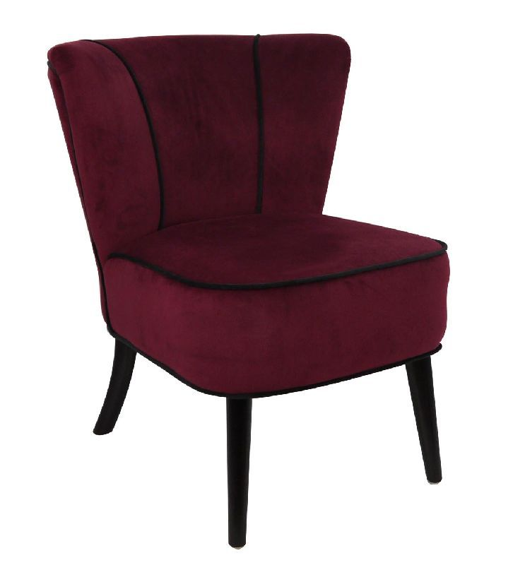 fauteuil crapaud rouge fonc aspect velours mobilier. Black Bedroom Furniture Sets. Home Design Ideas