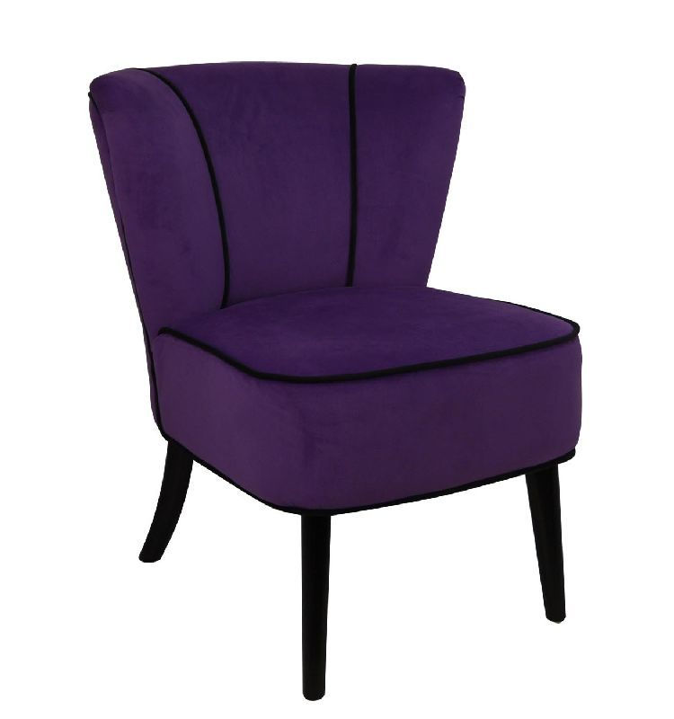 fauteuil crapaud violet aspect velours so skin. Black Bedroom Furniture Sets. Home Design Ideas