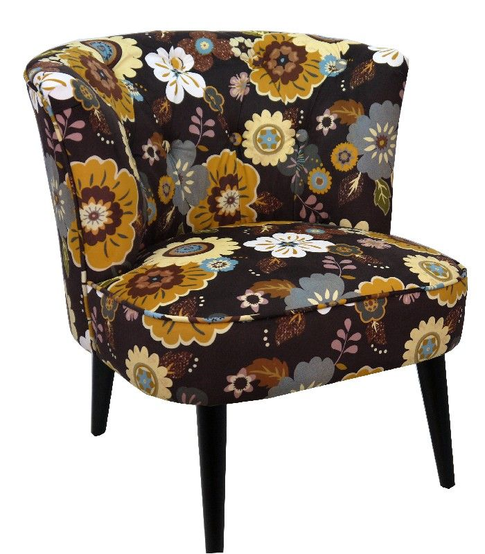 fauteuil crapaud polyester vence imprim floraux 68x66x70 so skin. Black Bedroom Furniture Sets. Home Design Ideas
