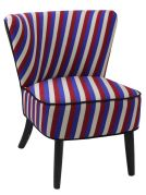 Fauteuil motifs rayures tricolores - So Skin