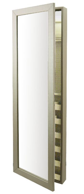 Meuble bijoux miroir blanc so skin - Meuble rangement bijoux miroir ...