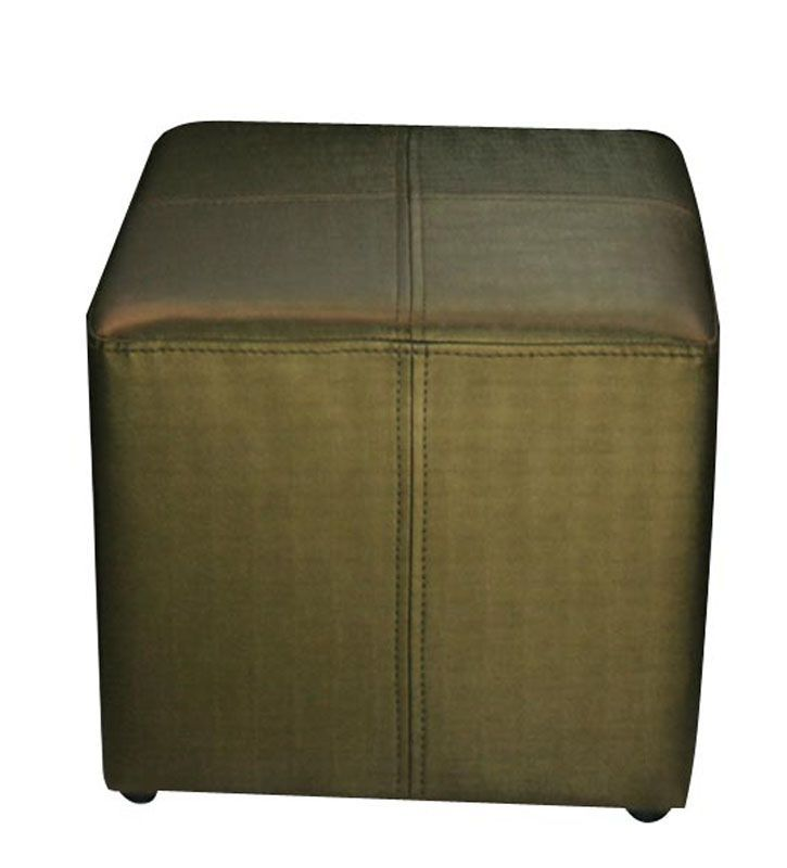 Pouf carré Bronze aspect soie - So Skin