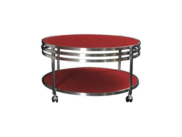 Table basse ronde so skin aspect croco rouge mobilier for Table ronde rouge cuisine