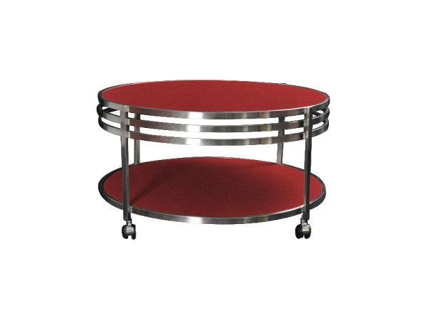 table basse ronde so skin aspect croco rouge mobilier. Black Bedroom Furniture Sets. Home Design Ideas