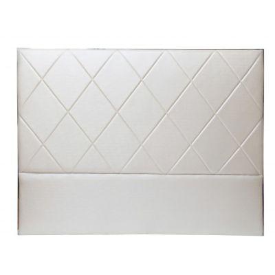 t te de lit capitonn e raso aspect soie blanc so skin. Black Bedroom Furniture Sets. Home Design Ideas