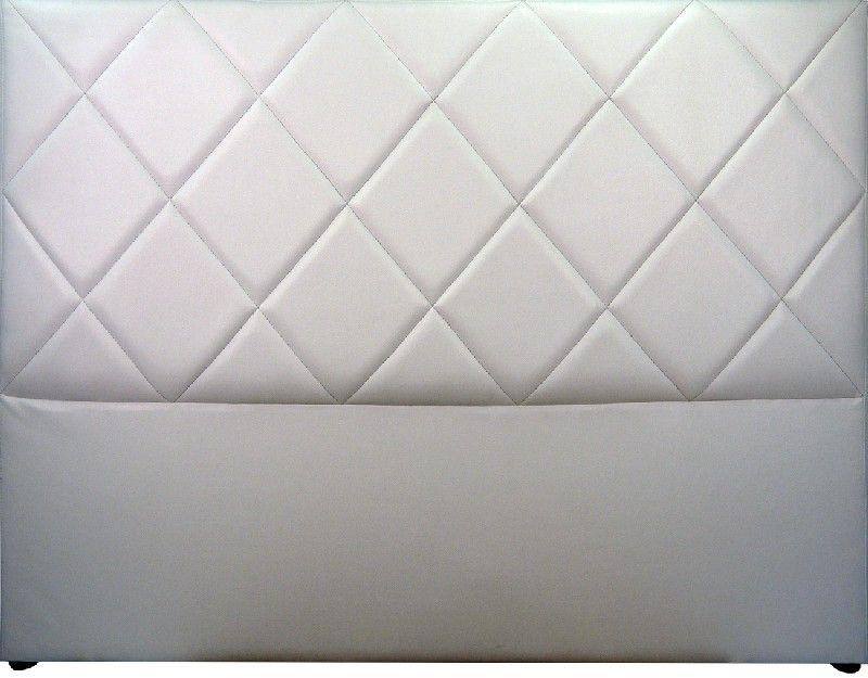 t te de lit capitonn e saffiano aspect cuir blanc mobilier. Black Bedroom Furniture Sets. Home Design Ideas