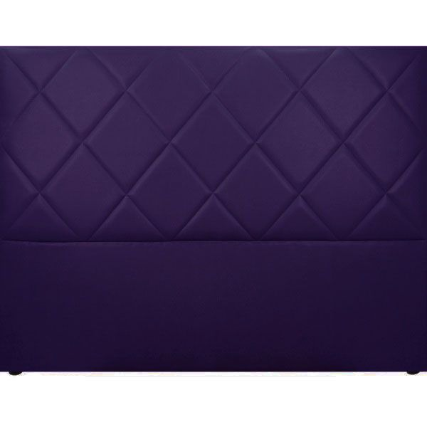 t te de lit capitonn e saffiano aspect cuir violet so skin. Black Bedroom Furniture Sets. Home Design Ideas