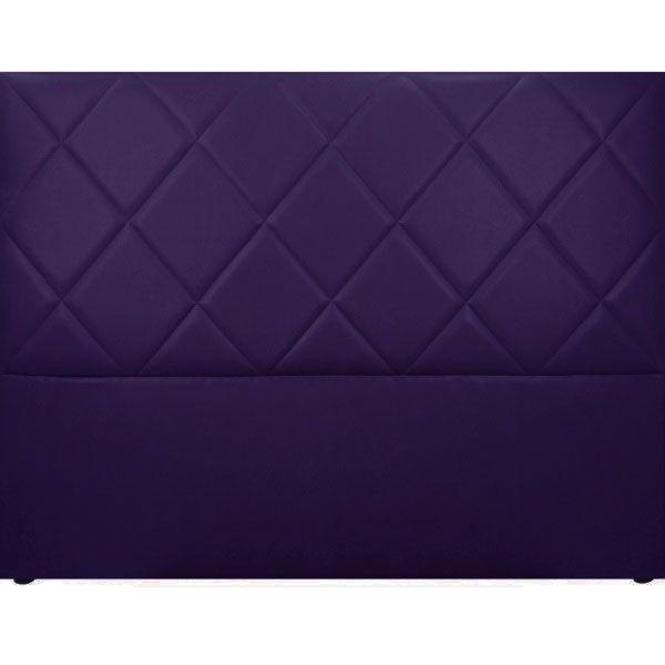 t te de lit capitonn e saffiano aspect cuir violet mobilier. Black Bedroom Furniture Sets. Home Design Ideas