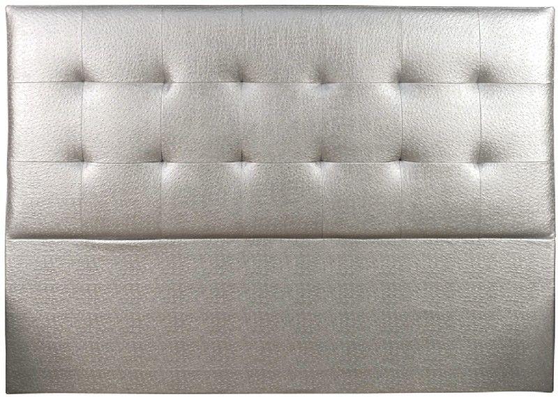 t te de lit capitonn e tudor aspect autruche argent 140. Black Bedroom Furniture Sets. Home Design Ideas
