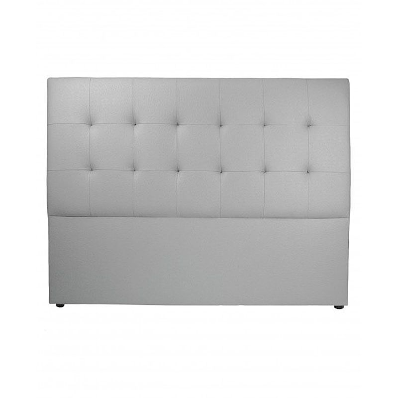 t te de lit capitonn e tudor aspect autruche gris b ton 180 cm mobilier. Black Bedroom Furniture Sets. Home Design Ideas