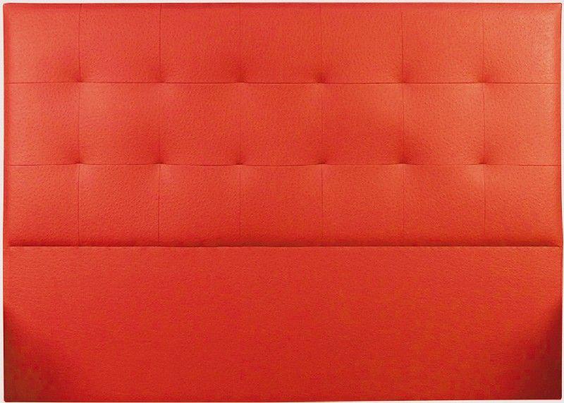 t te de lit capitonn e tudor aspect autruche rouge 140 so skin. Black Bedroom Furniture Sets. Home Design Ideas