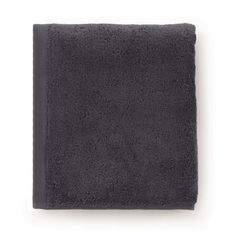 Drap de bain ponge bio essentiel graphite 100x160 - Drap de bain bio ...