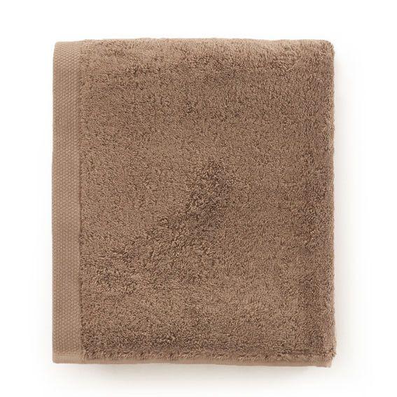 Drap de bain ponge bio essentiel taupe 100x160 - Drap de bain bio ...