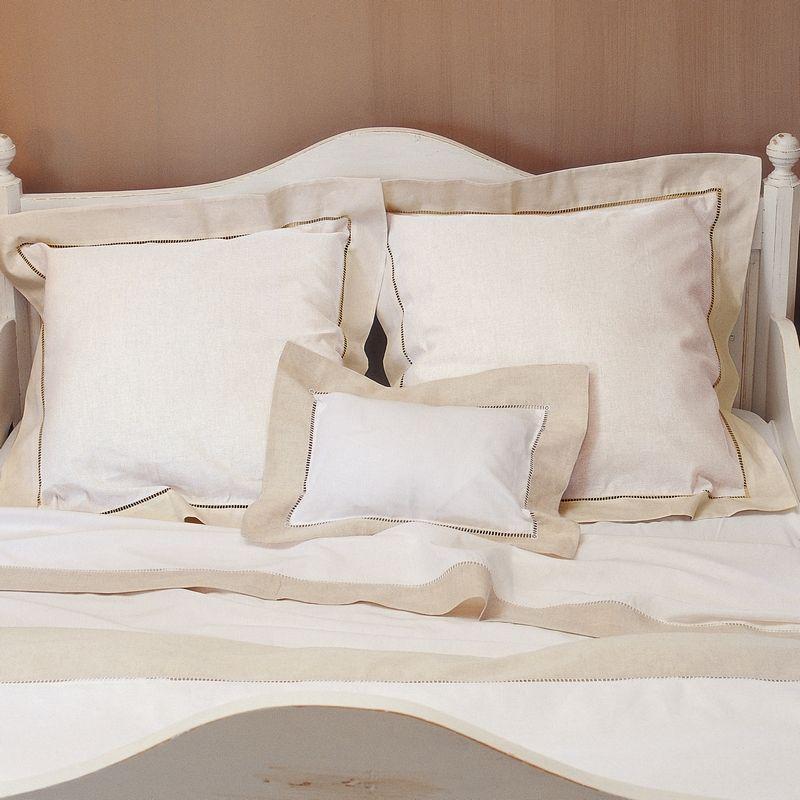 linge de maison draps lit Drap de lit Paris blanc/naturel 240x300   Linge de maison  linge de maison draps lit
