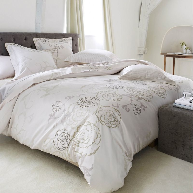 Drap de lit satin de coton bagatelle nymphea 240x300 for Draps de lit