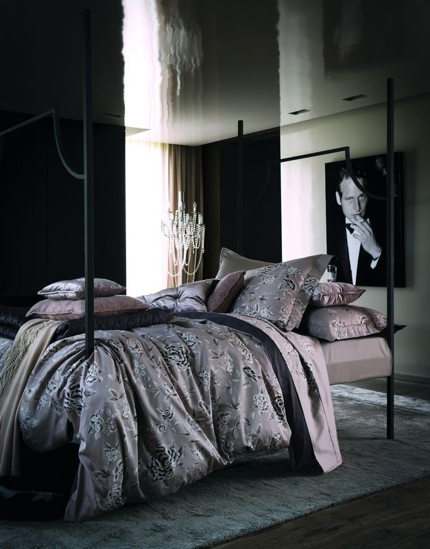 drap de lit satin de coton m lisande gazelle 270x300 linge de maison. Black Bedroom Furniture Sets. Home Design Ideas