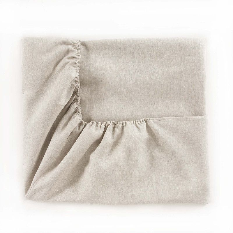 Drap housse lin maine naturel 90x200 alexandre turpault for Draps housse 90x200