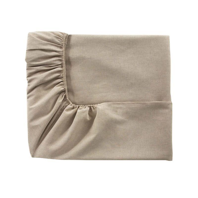 drap housse lin m tis ontario naturel 180x200 linge de maison. Black Bedroom Furniture Sets. Home Design Ideas