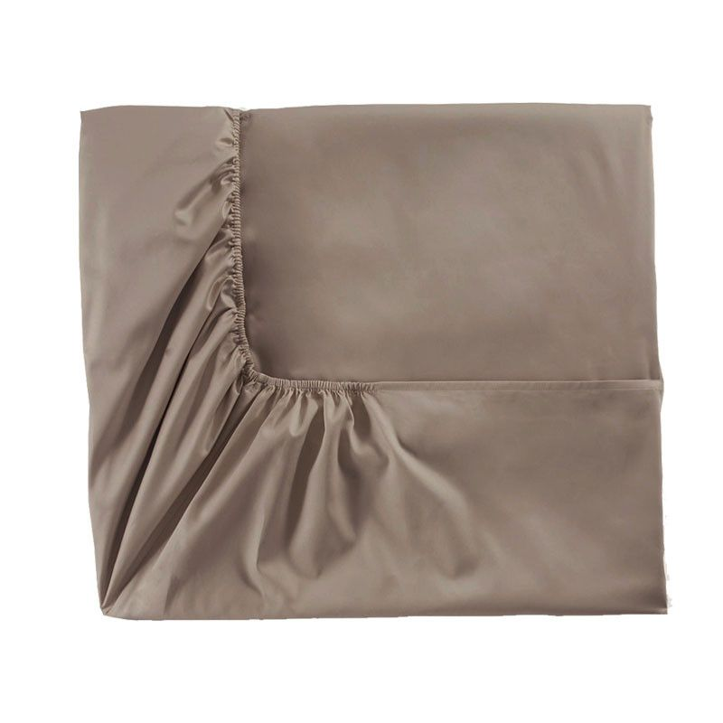 Drap housse satin de coton teo gazelle 180x200 alexandre for Drap housse satin