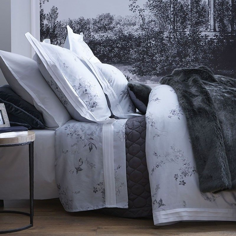 housse de couette hellebore mousseline 200x200 linge de maison. Black Bedroom Furniture Sets. Home Design Ideas