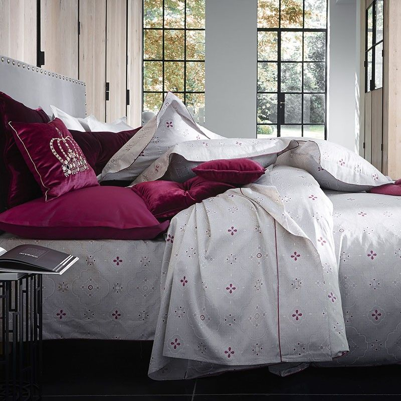 housse de couette palatine satin 200x200 linge de maison. Black Bedroom Furniture Sets. Home Design Ideas