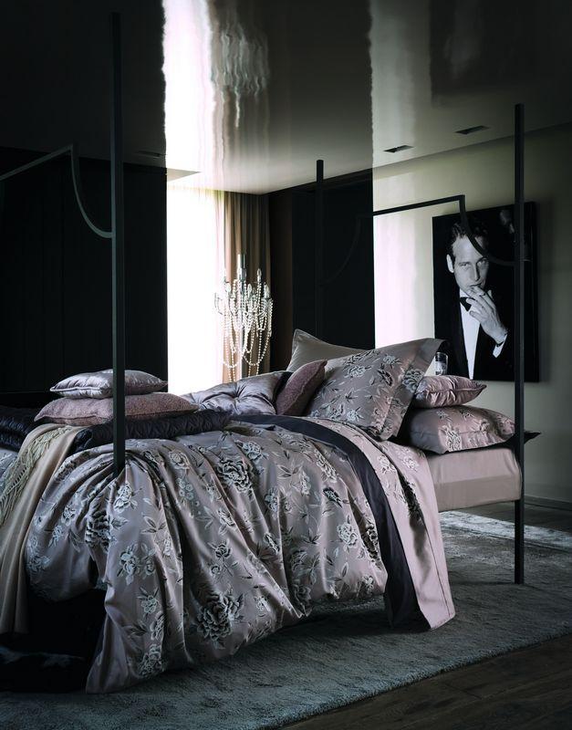 satin de coton linge de lit Housse de couette satin de coton Mélisande gazelle 200x200   Linge  satin de coton linge de lit