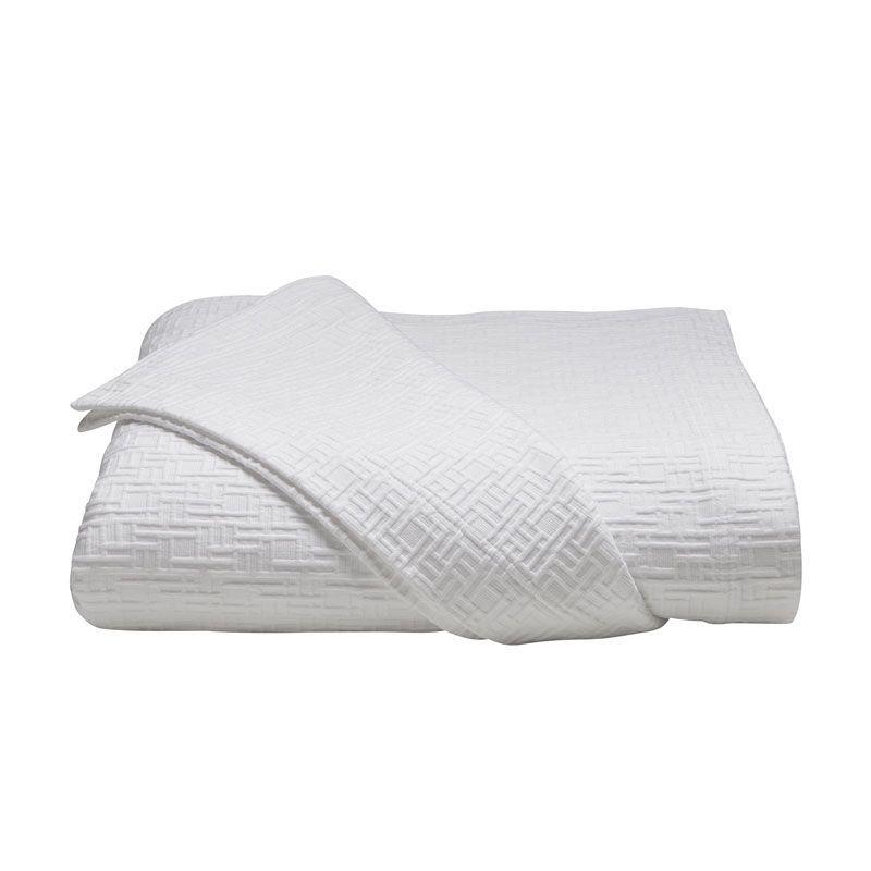 couvre lit piqué de coton blanc Jeté de lit piqué de coton blanc motifs géométriques 290x260  couvre lit piqué de coton blanc
