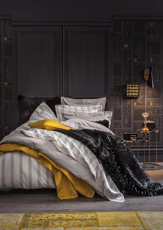 taie d 39 oreiller bel ami hermine satin de coton 50x75 linge de maison. Black Bedroom Furniture Sets. Home Design Ideas