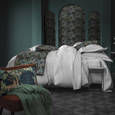 taie d 39 oreiller le jour lin blanc motifs ajour s 50x75 linge de maison. Black Bedroom Furniture Sets. Home Design Ideas