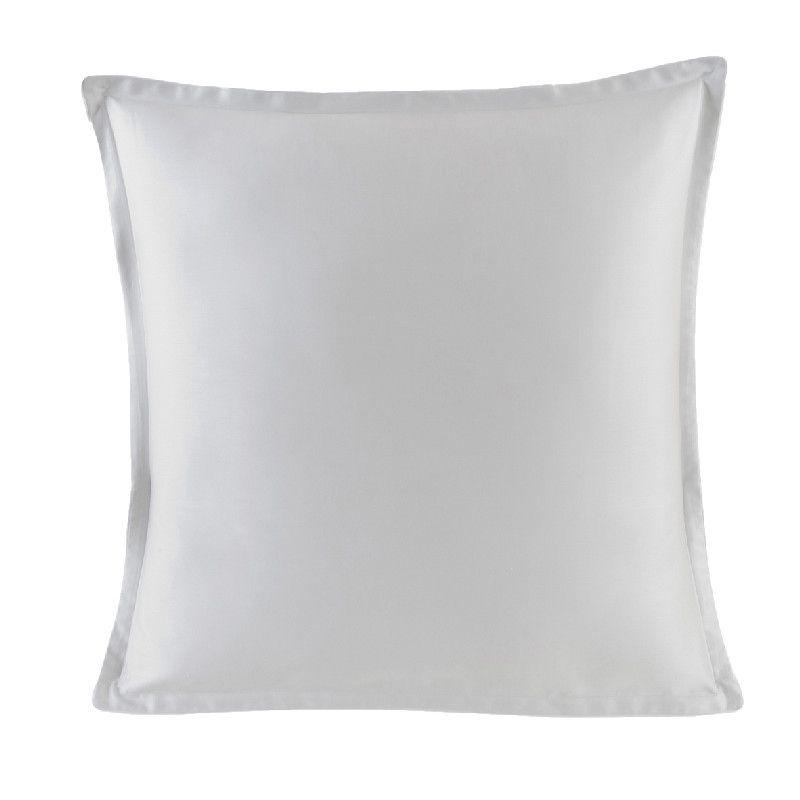 taie d 39 oreiller teo argent satin de coton 50x75. Black Bedroom Furniture Sets. Home Design Ideas