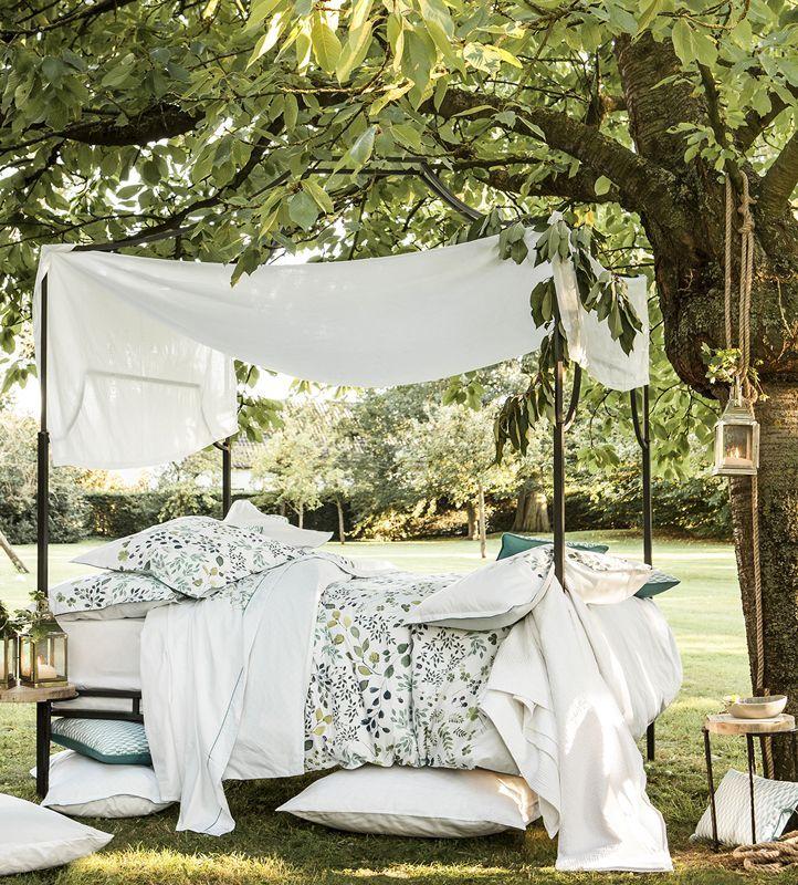 taie d 39 oreiller percale verdure 50x75 alexandre turpault. Black Bedroom Furniture Sets. Home Design Ideas