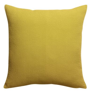 Coussin Musa carré absynthe coton stonewashed 45x45 - Vivaraise